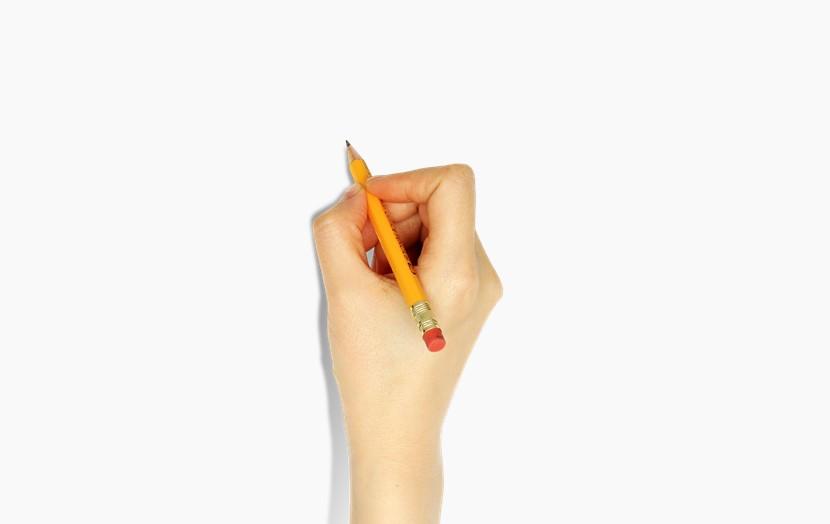 右手写字 握笔png免扣图片