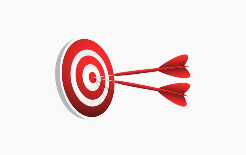 两只箭正中靶心 飞镖 靶子 png免扣图片