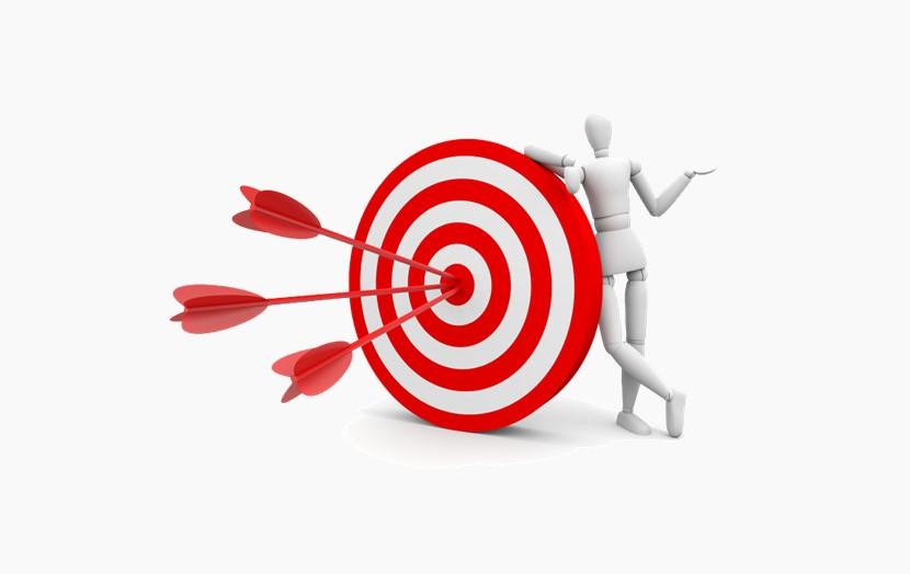 三支箭中靶,3D小人目标达成png免扣图片