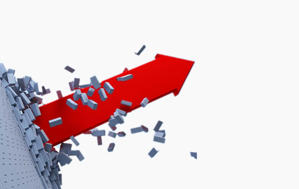 箭头 破墙而出箭头,表示突破的箭头