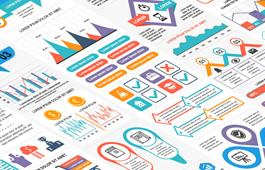 高端PPT图表行业配色方案及实例