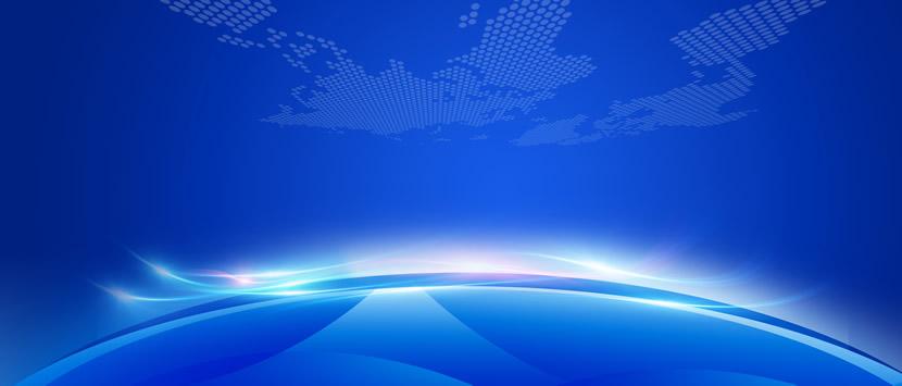 蓝色PPT封面图 科技蓝会议背景