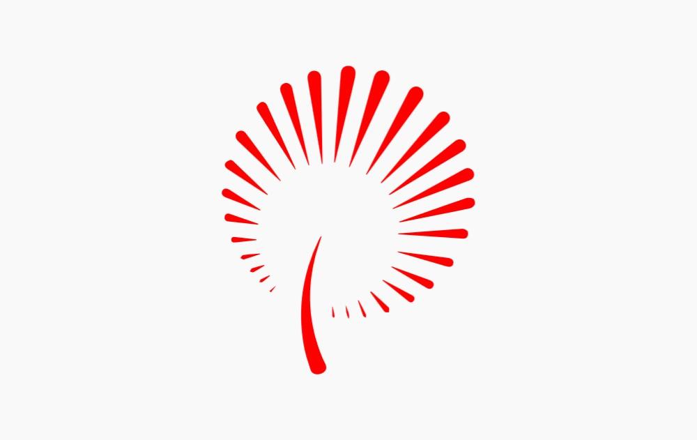 蒲公英图标 新时代文明实践标志