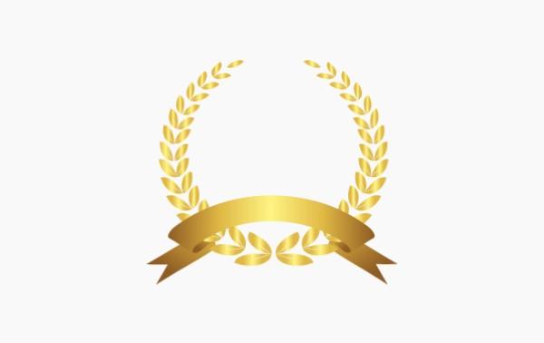 橄榄枝、麦穗矢量荣誉奖项装饰素材