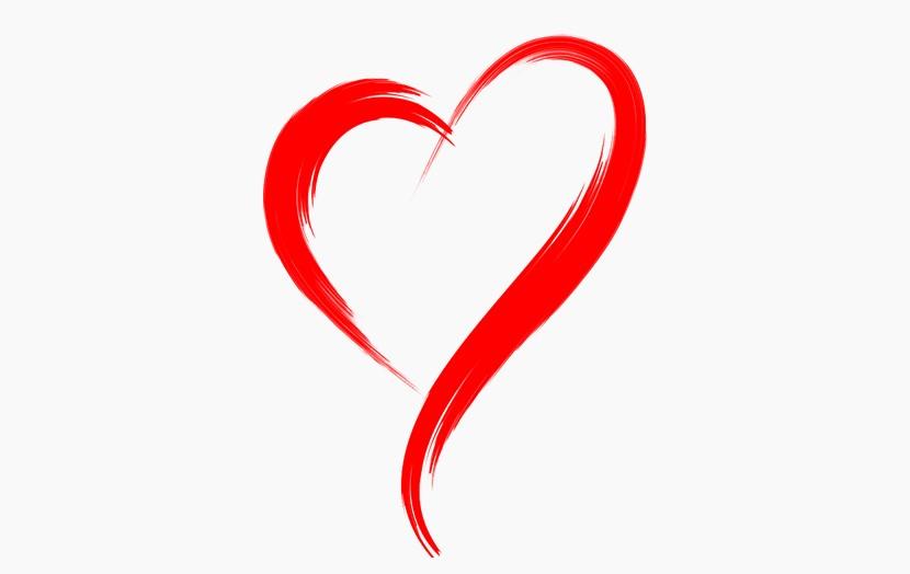 心形 爱心红丝带