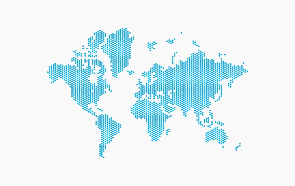 点阵世界地图矢量图