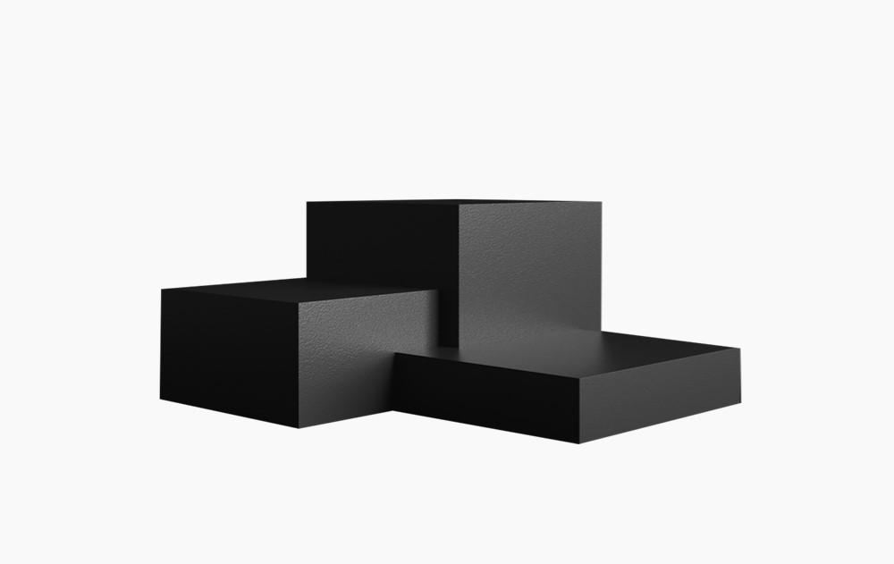 质感高端正方体展台 空间展示