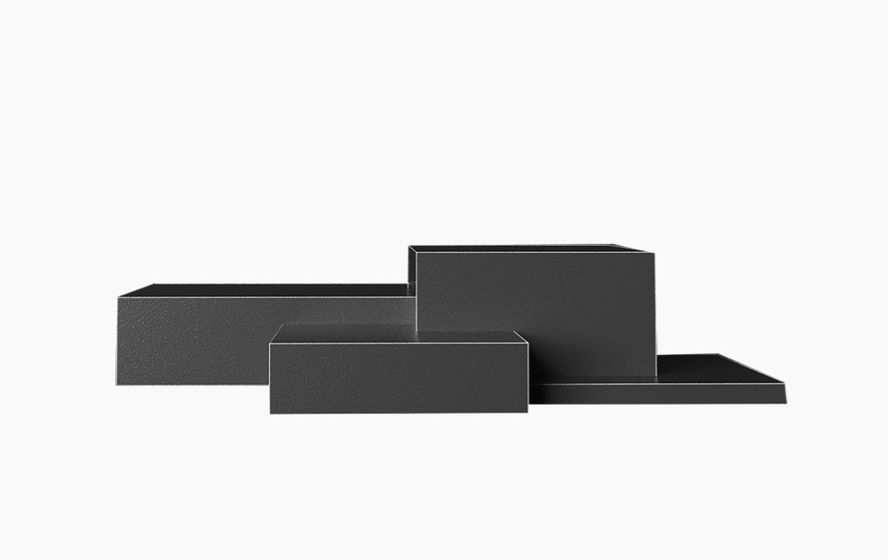 质感高端黑空间长方体展台